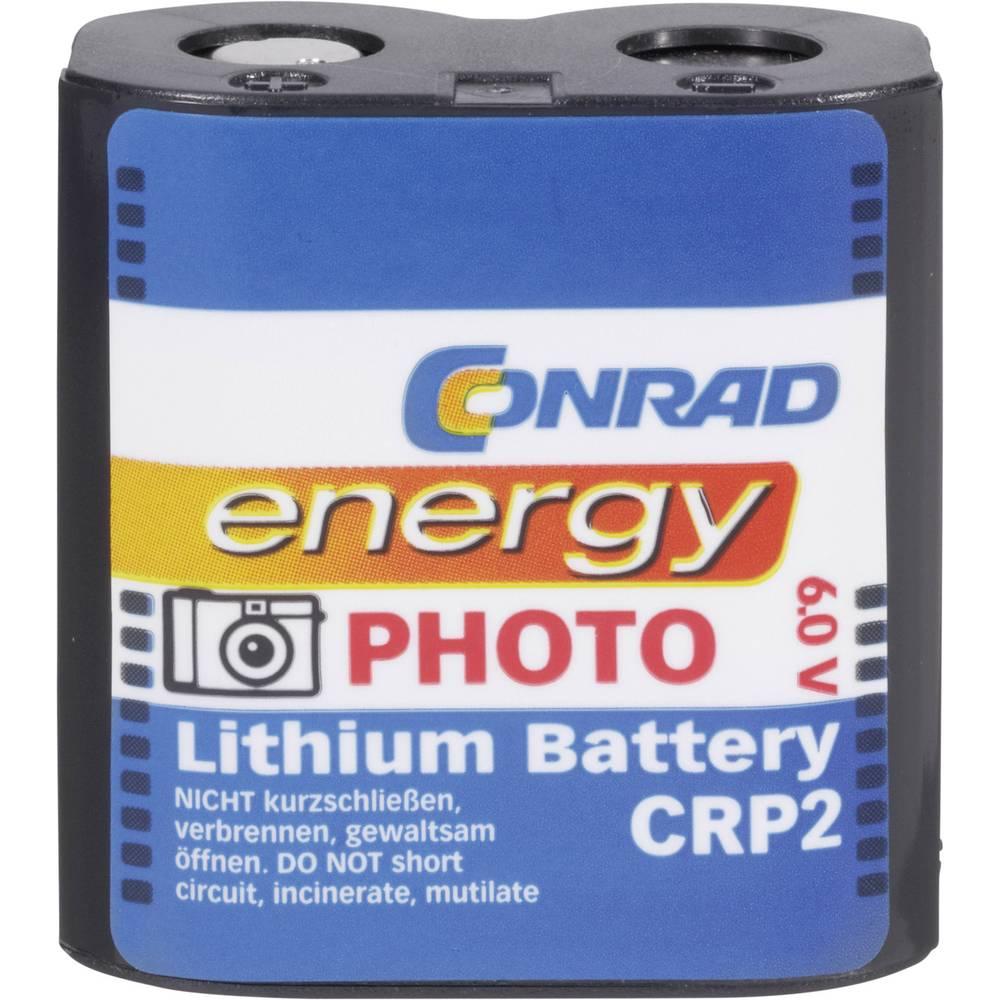 Baterija za fotoaparat CR-P 2 litijeva Conrad energy CRP2 1400 mAh 6 V 1 kos