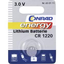 Gumbna baterija CR 1220 litijeva Conrad energy CR1220 30 mAh 3 V, 1 kos