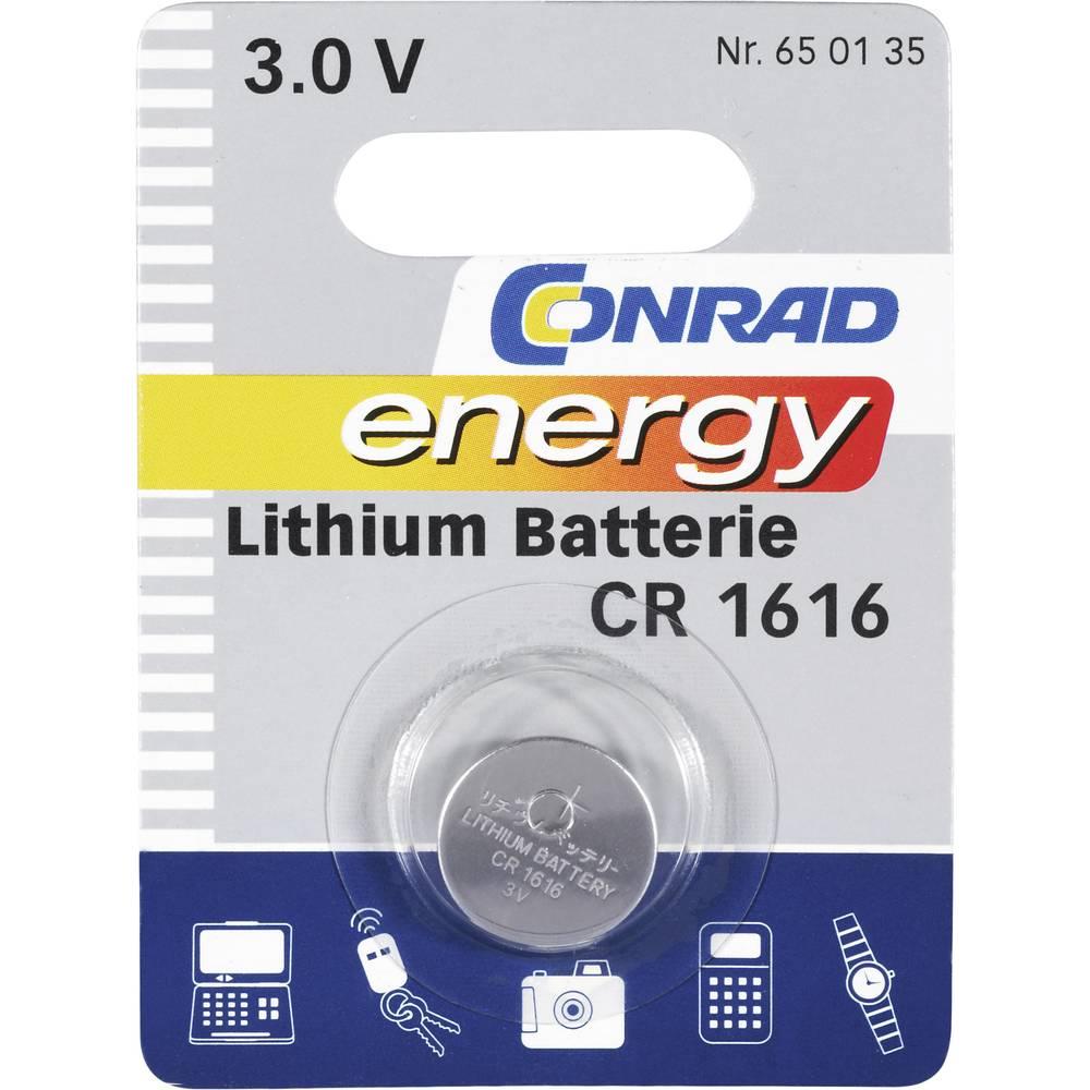Gumbasta baterija CR 1616 Conrad energy litijska CR1616 45 mAh 3 V 1 kom.