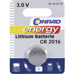 Gumbna baterija CR 2016 litijeva Conrad energy CR2016 70 mAh 3 V, 1 kos