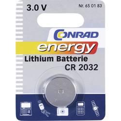 Gumbna baterija CR 2032 litijeva Conrad energy CR2032 200 mAh 3 V, 1 kos