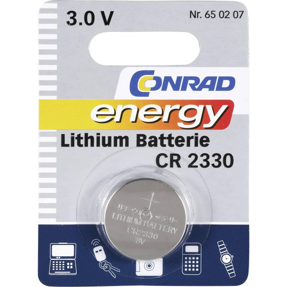 Knappcell CR 2330 Litium Conrad energy CR2330 260 mAh 3 V 1 st
