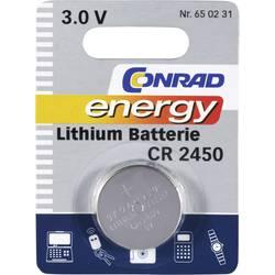 Gumbna baterija CR 2450 litijeva Conrad energy CR2450 600 mAh 3 V, 1 kos