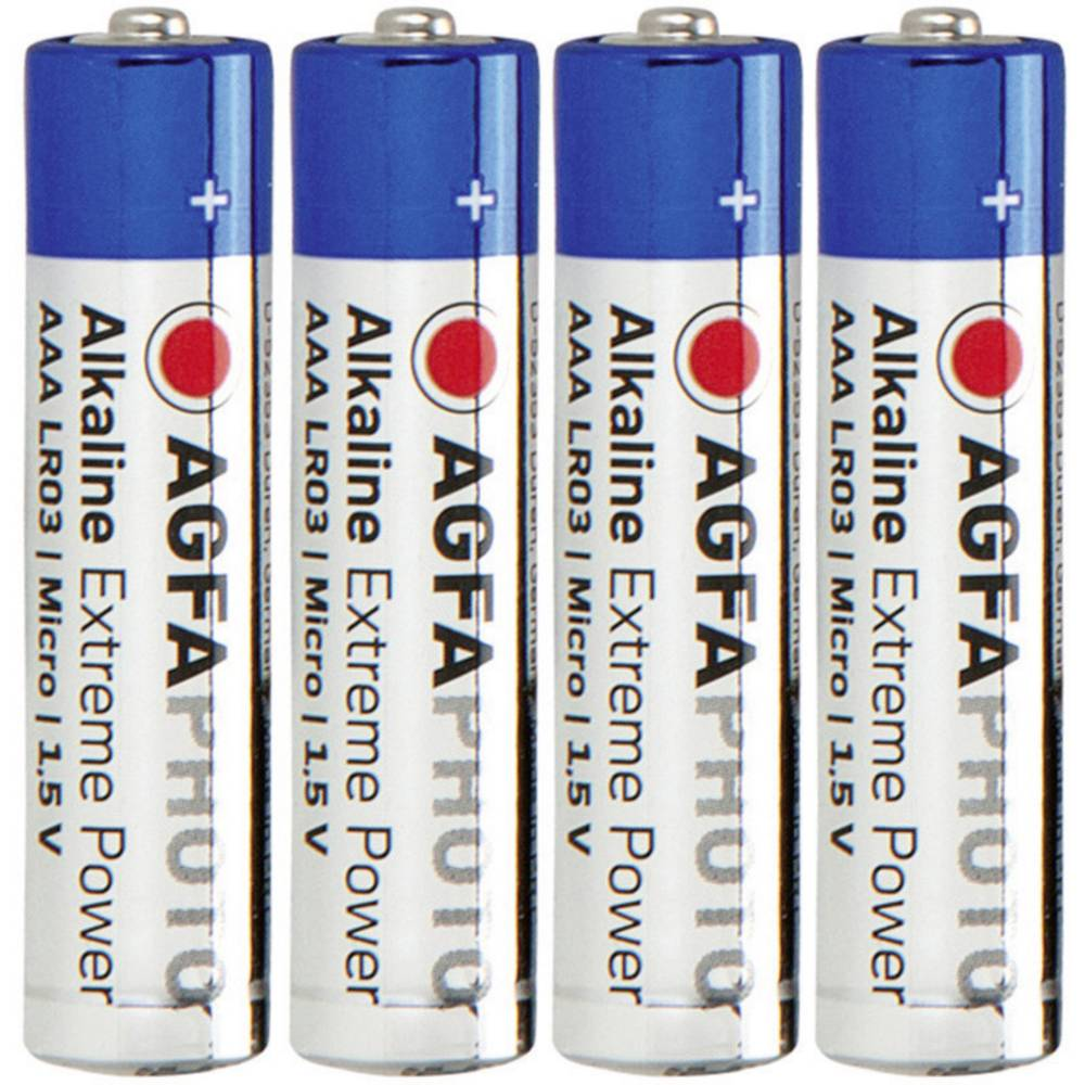 Micro baterija (AAA) alkalno-manganova AgfaPhoto LR03 1.5 V 4 kosi