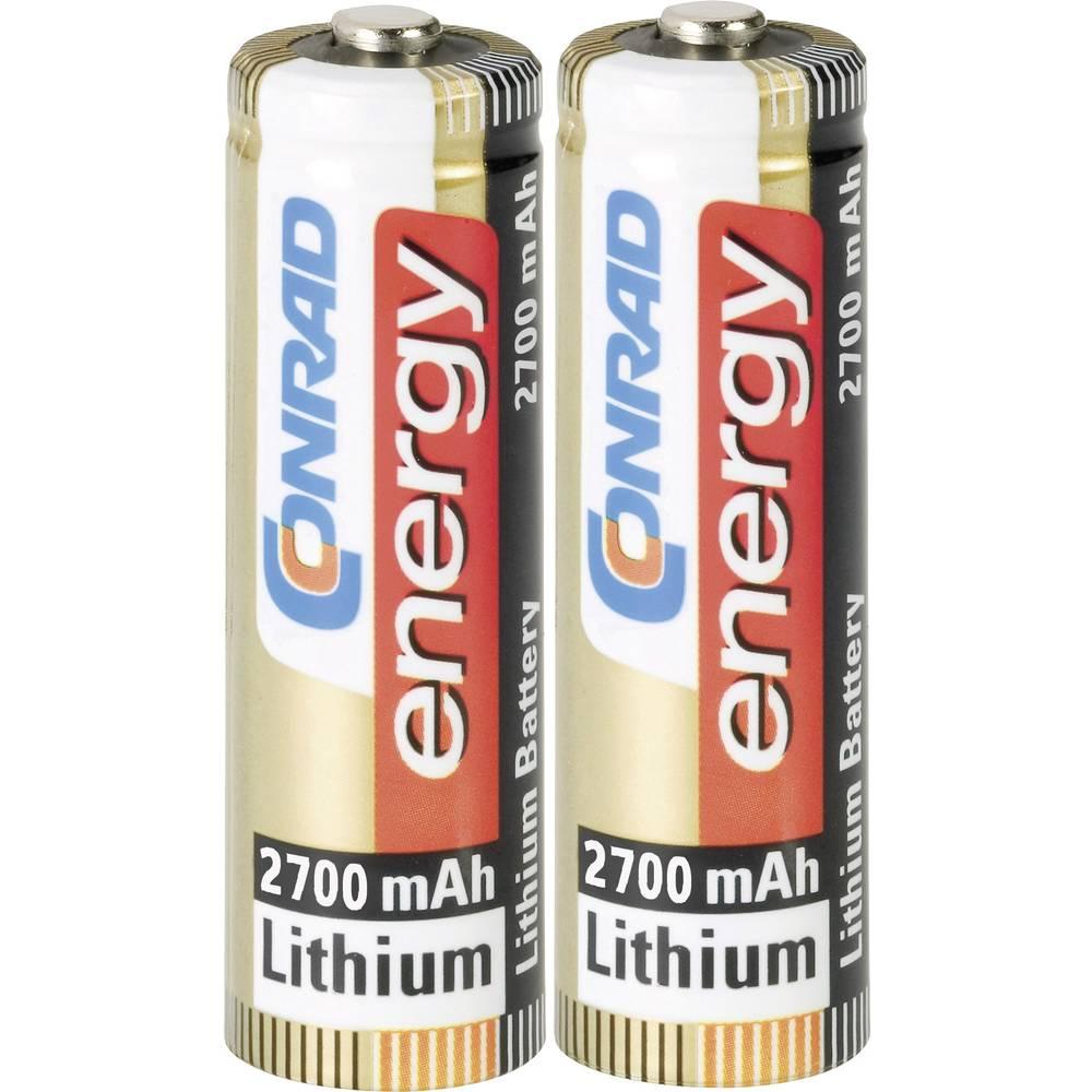 Batteri R6 (AA) Litium Conrad energy Extreme Power LR06 2900 mAh 1.5 V 2 st