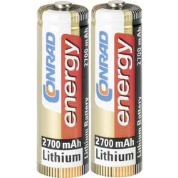 Batteri R6 (AA) Litium Conrad energy Extreme Power LR06 2900 mAh 1.5 V 2 st
