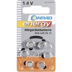 Knappcell ZA 13 Zink-luft Conrad energy 280 mAh 1.4 V 6 st