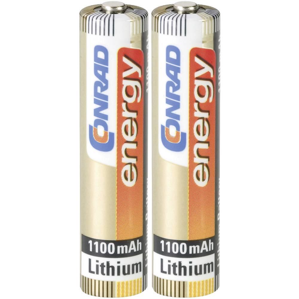 Micro baterija (AAA) litijeva Conrad energy Extreme Power LR03 1100 mAh 1.5 V 2 kosa