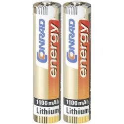 Batteri R3 (AAA) Litium Conrad energy Extreme Power LR03 1100 mAh 1.5 V 2 st