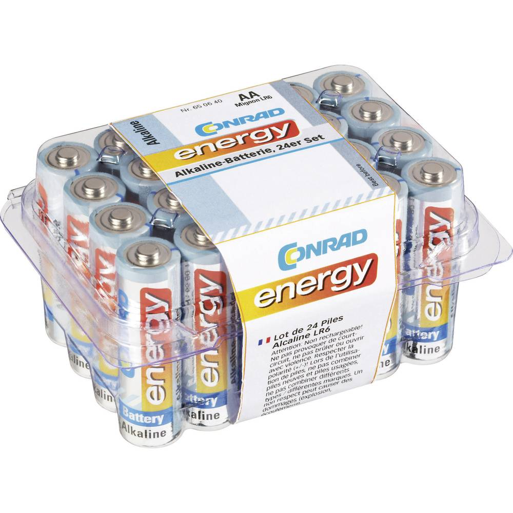 Mignon baterija (AA) alkalno-manganova Conrad energy LR06 1.5 V 24 kosov