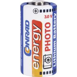 Baterija za fotoaparat CR-123A litijeva Conrad energy CR123 1400 mAh 3 V 1 kos