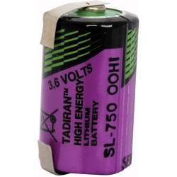 Posebna litijeva baterija Tadiran 1/2 AA U-spajkalni priključek 3.6 V 1100 mAh 1/2 AA (Ø x V) 15 mm x 25 mm