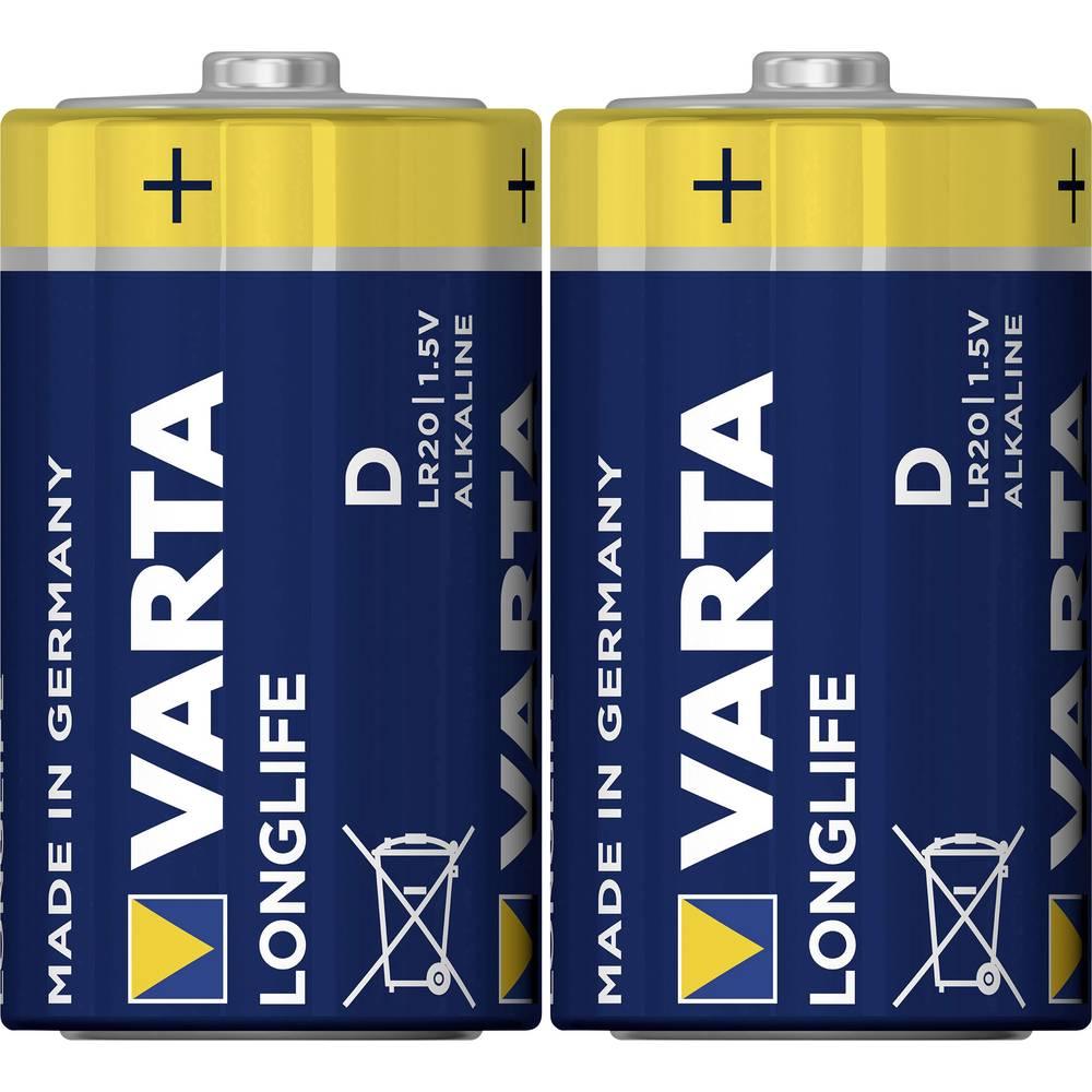 Mono baterija (D) alkalno-manganova Varta Longlife LR20 1.5 V 2 kosa