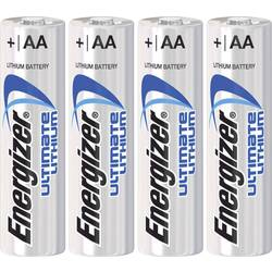 Batteri R6 (AA) Litium Energizer Ultimate LR06 3000 mAh 1.5 V 4 st