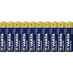 Micro baterija (AAA) alkalno-manganova Varta Longlife LR03 1.5 V 8 kosov