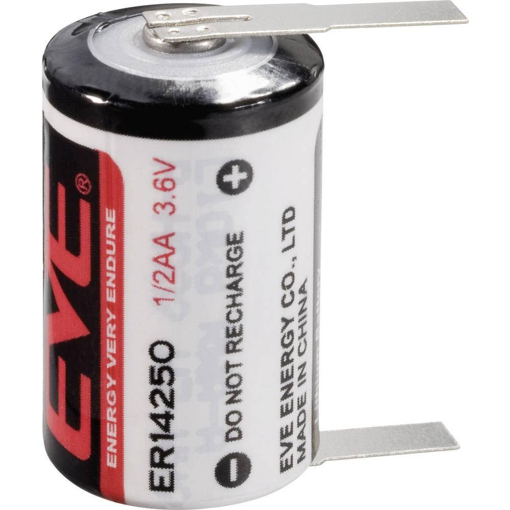 Posebna litijeva baterija EVE 1/2 AA, U-spajkalni priključek 3.6 V 1200 mAh 1/2 AA (Ø x V) 14.5 mm x 25.2 mm ER14250T