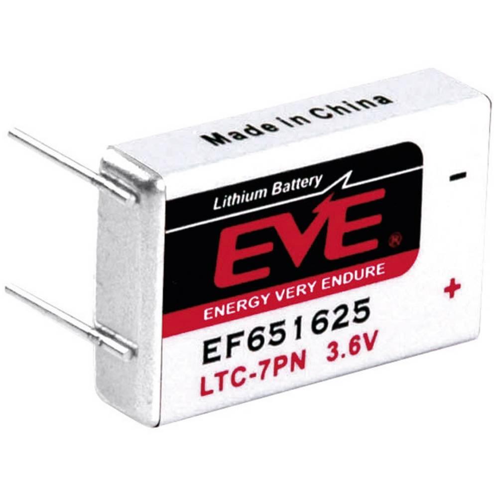 Posebna litijeva baterija EVE LTC-7PN, 4 x spajkalni zatič 3.6 V 750 mAh 25.8 x 16.85 x 14.6 mm LTC-7PN, EF651625