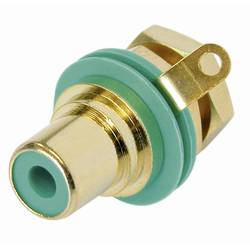 Činč-vtični konektor za vtičnico, vgradni vertikalen število polov: 2 zelene barve Rean AV NYS367-5-CON 1 kos