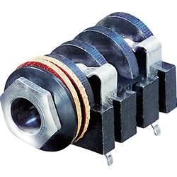 Klinken-vtični konektor, 6.35 mm vtičnica, vgraden horizontalen število polov: 2 Mono črne barve Rean AV NYS2152 1 kos