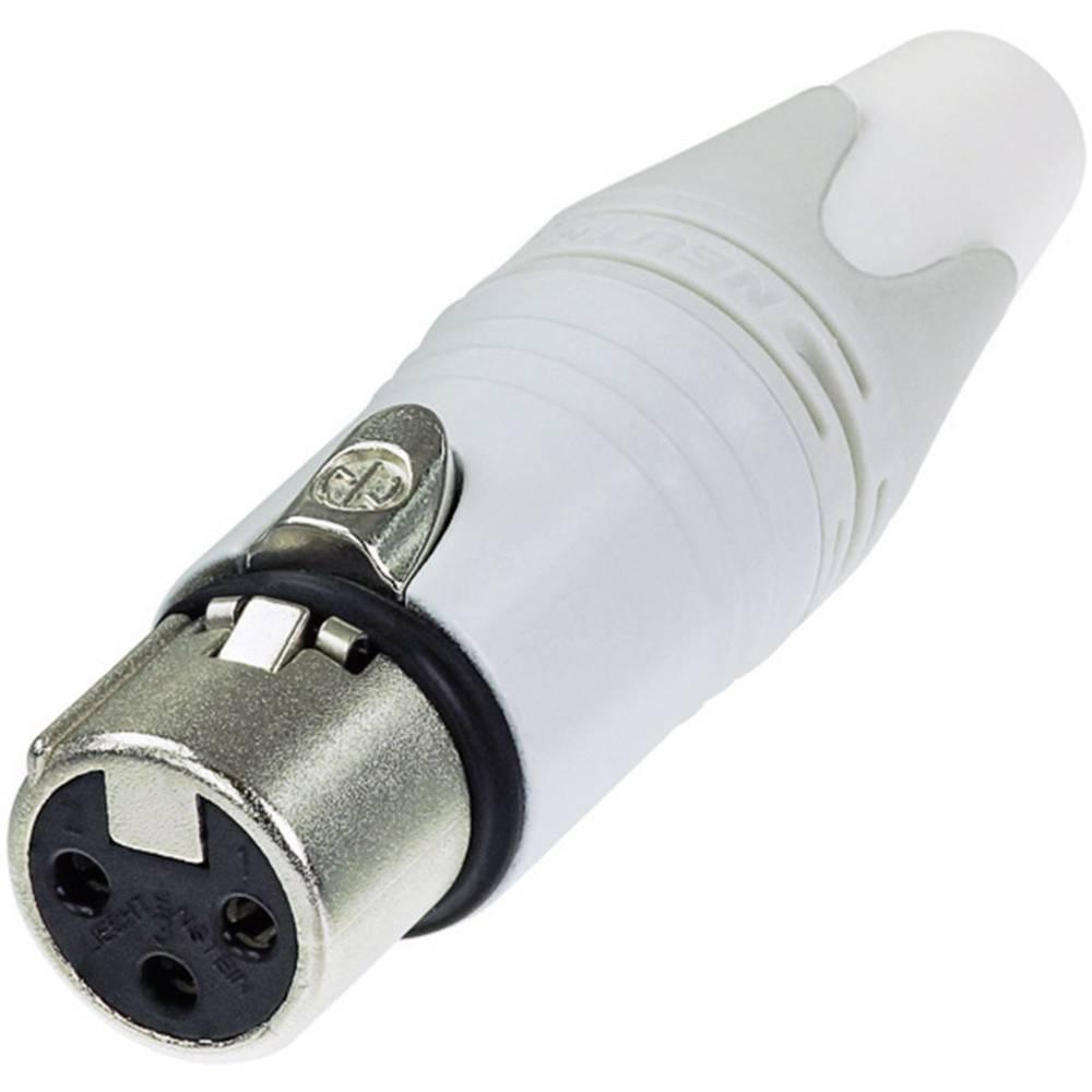 XLR-vtični konektor za vtičnico, raven, število polov: 3 bele barve Neutrik NC3FXX-WT 1 kos