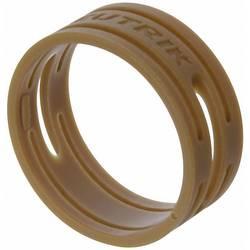 Kodirni obroč Neutrik XXR-komplet-1 rjave barve 10 kosov