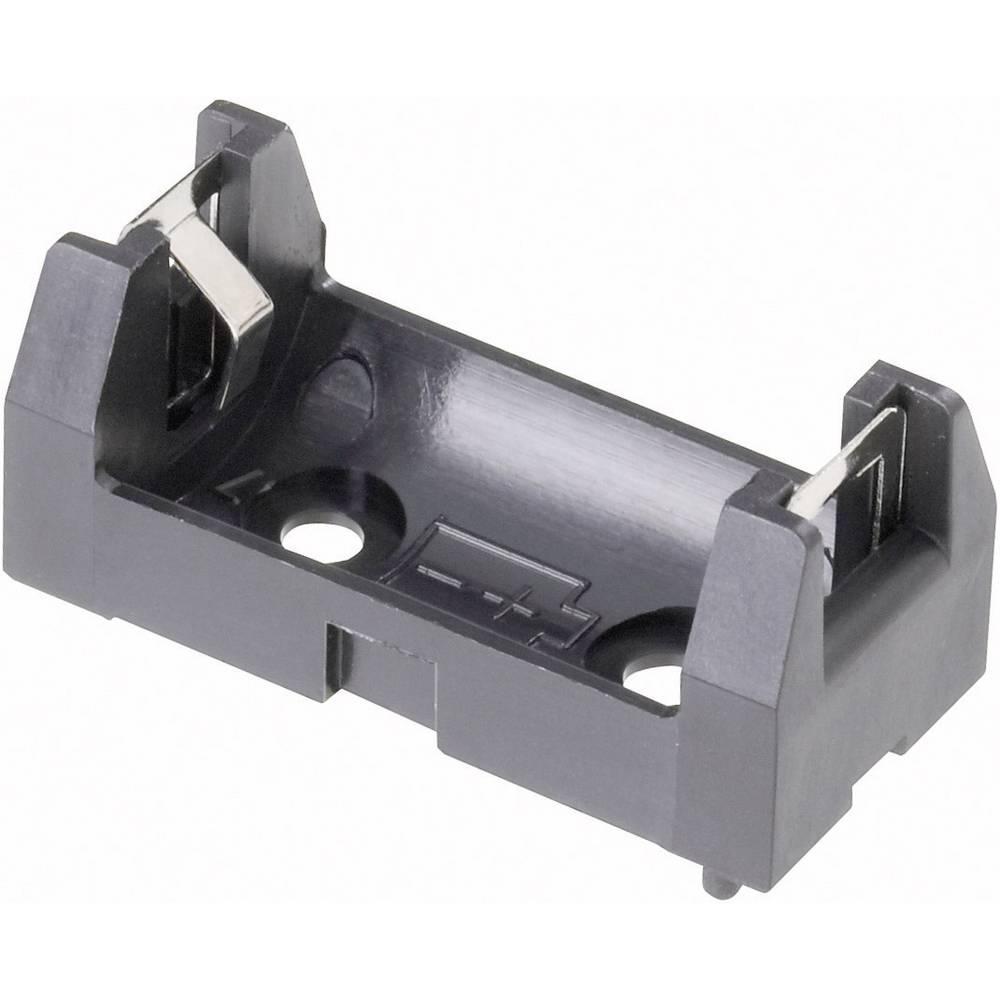 Držalo za baterijo tipa 1/2 AA s kontaktom, (D x Š x V) 34, 5 x 16 x 15 mm