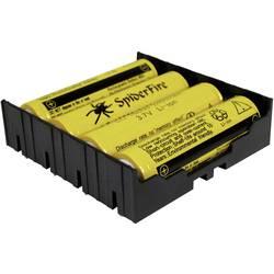 Držalo za baterijo MPD s kontaktom za 4 Li-Ion baterije 18650 THT L, (D x Š x V) 77, 98 x 78, 84 x 21, 54 mm BK-18650-PC8