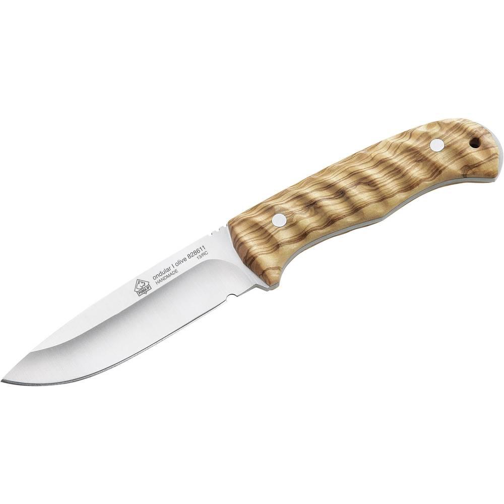 PumaTec nož s futrolom za pojas Ondular I, maslinovo drvo, džepni nož, težina 210 g duljina oštrice 114 828611
