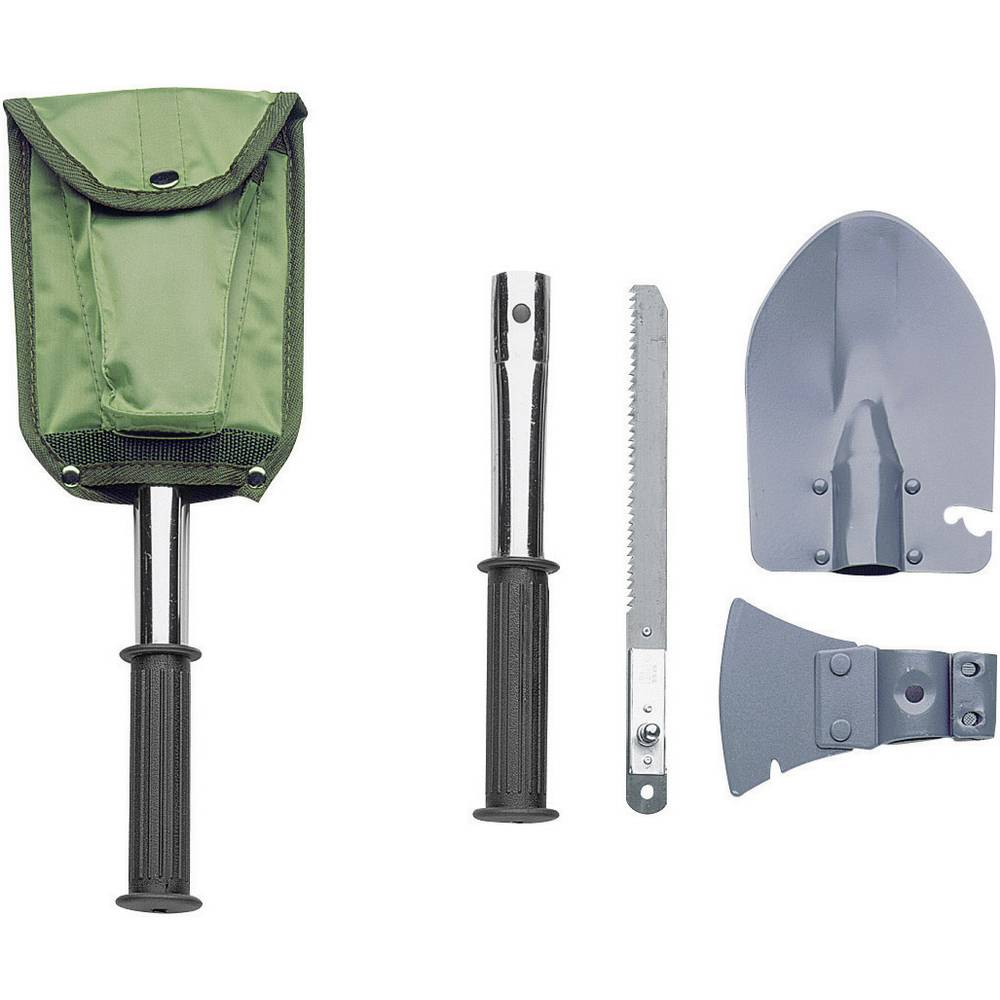 Spade med yxa, med hammaryta, med såg, med väska Herbertz 619200 Werkzeugsatz, 4teilig