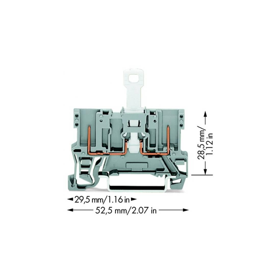 Basisklemme 5 mm Trækfjeder Belægning: L Grå WAGO 769-222 50 stk