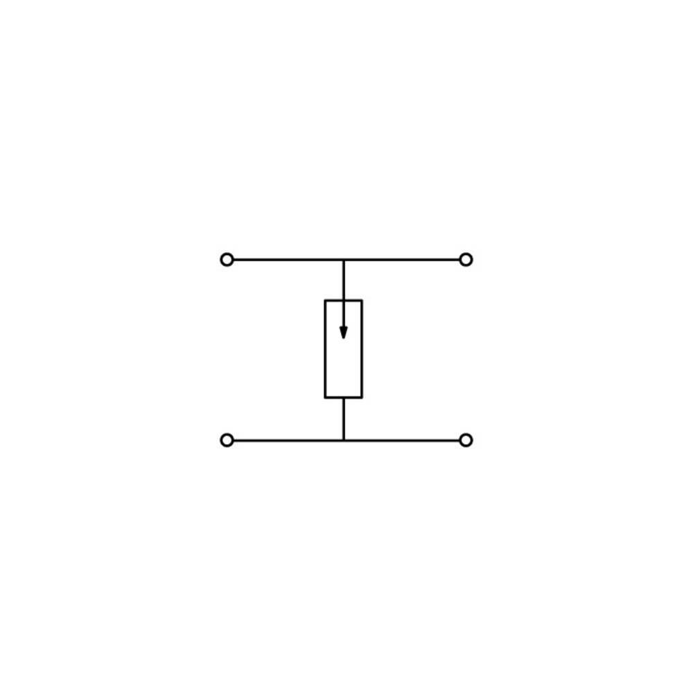Dobbeltlags-beskyttelseslederklemme 5 mm Trækfjeder Belægning: L Grå WAGO 870-528/281-581 25 stk