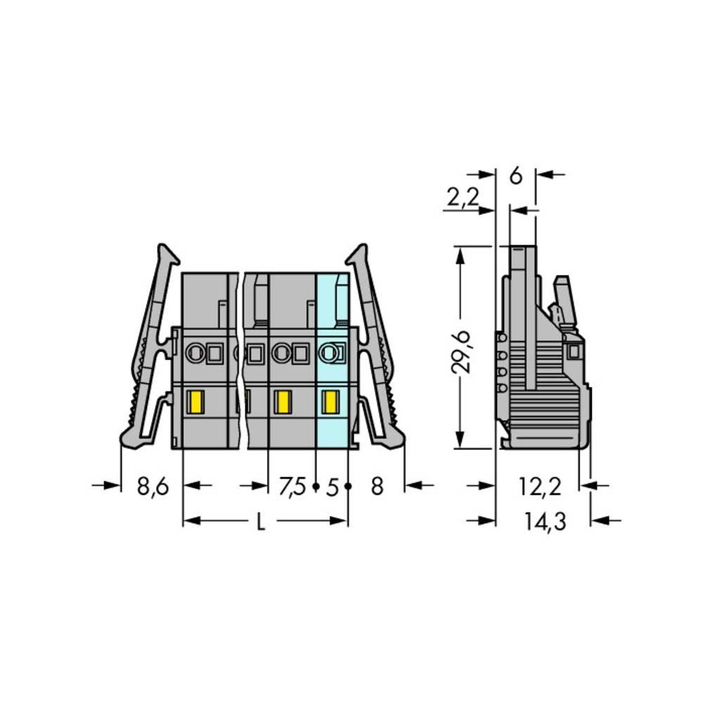 Tilslutningskabinet-kabel 231 (value.1360880) Samlet antal poler 16 WAGO 231-216/037-000/035-000 Rastermål: 7.50 mm 10 stk