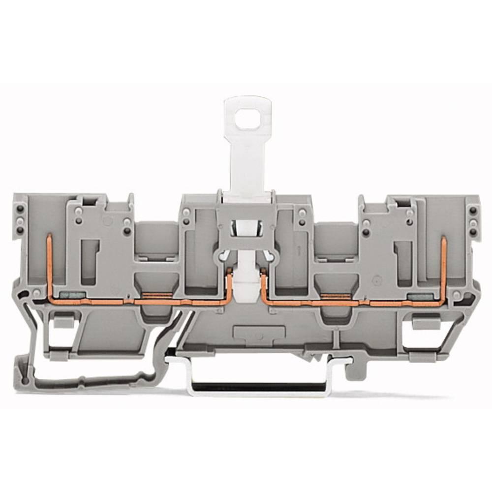 Basisklemme 5 mm Trækfjeder Belægning: L Grå WAGO 769-203 50 stk