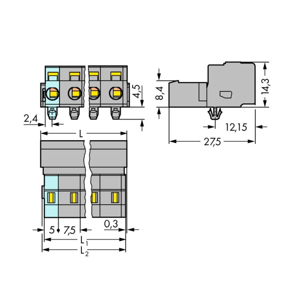 Stiftliste (standard) 2081 Samlet antal poler 3 WAGO 731-603/018-000 Rastermål: 7.50 mm 100 stk