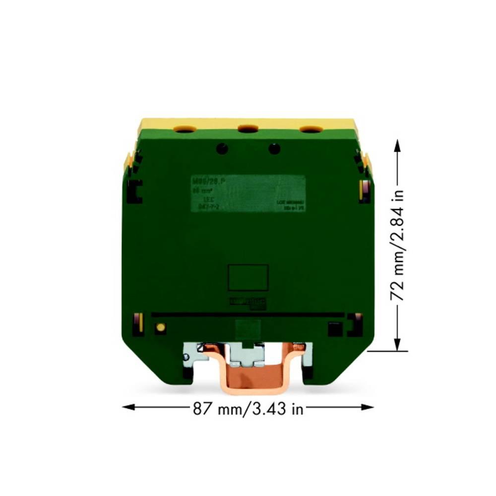 Jordklemme 26 mm Skruer Belægning: Terre Grøn-gul WAGO 400-499/499-176 10 stk