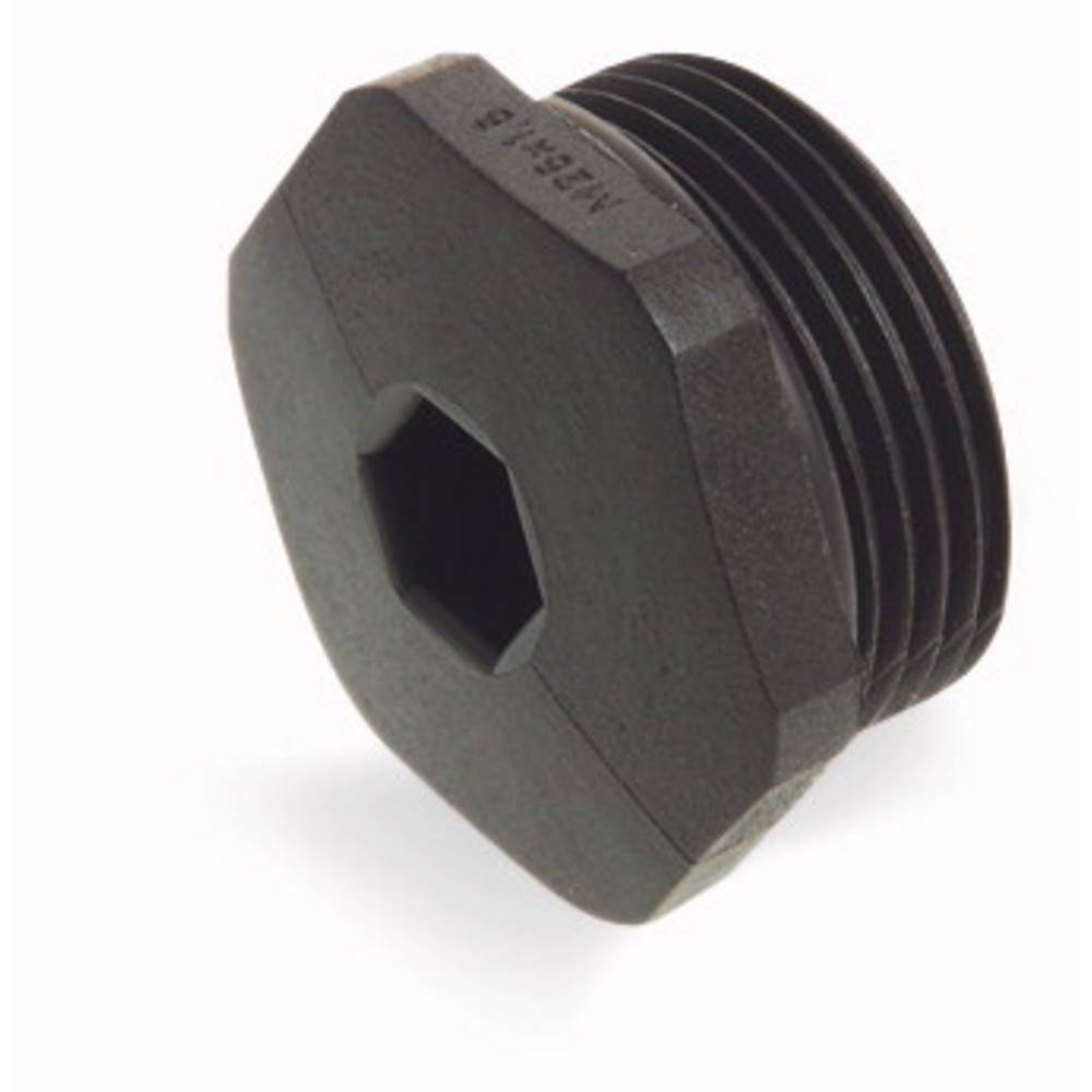Čep z O-obročem poliamid črne barve WAGO 895-1605 5 kos