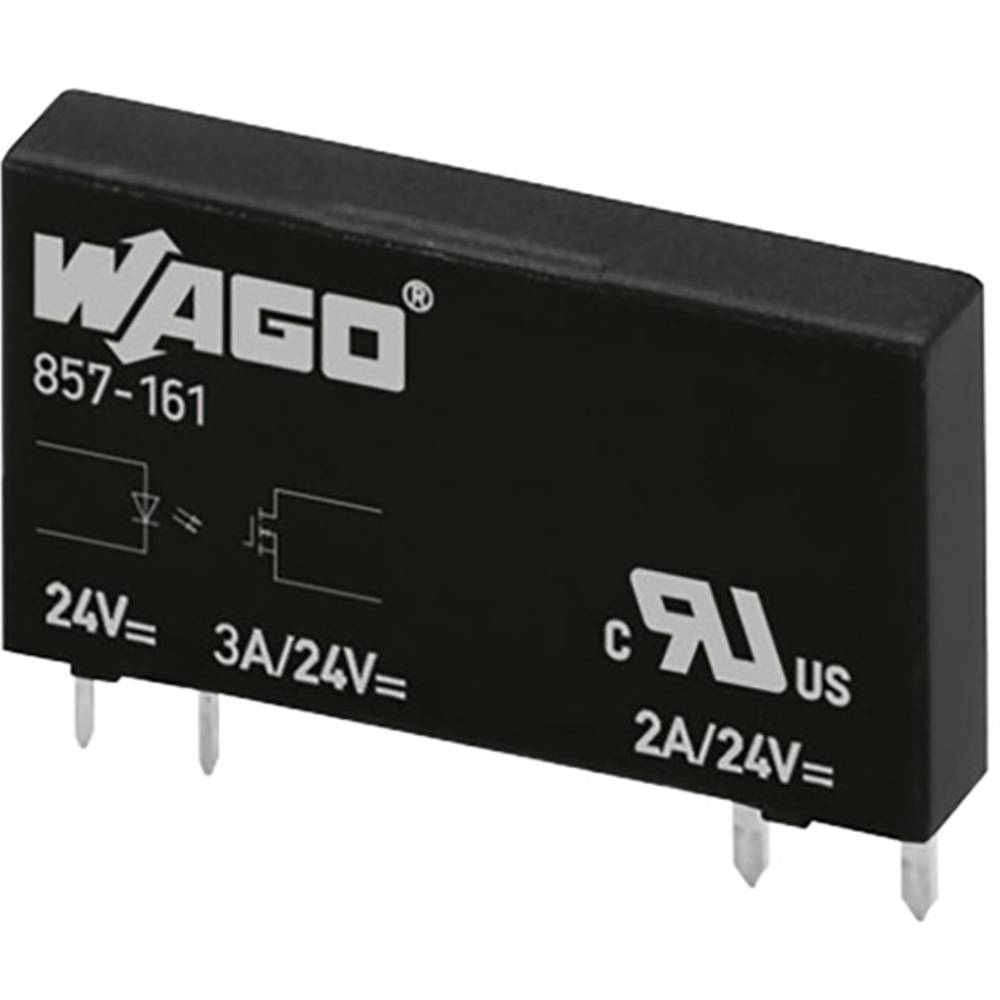 Halbleiterrelais (value.1292894) 20 stk WAGO 857-167 Last-Strøm (maks.): 2 A Koblingsspænding (max.): 24 V/DC