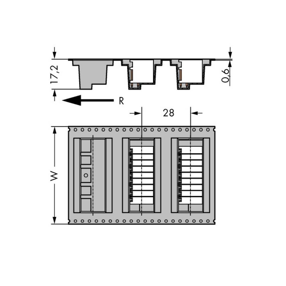 Stiftliste (standard) 1735 (value.1360471) Samlet antal poler 12 WAGO 713-1426/105-000/997-406 Rastermål: 3.50 mm 120 stk
