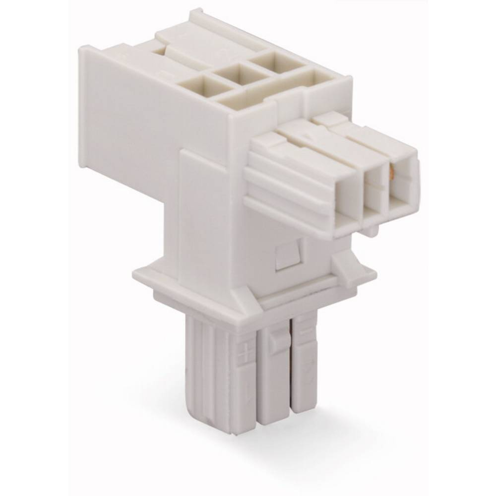 T-strømforsyningsfordeler WAGO Samlet poltal 2 Lysegrå 25 stk