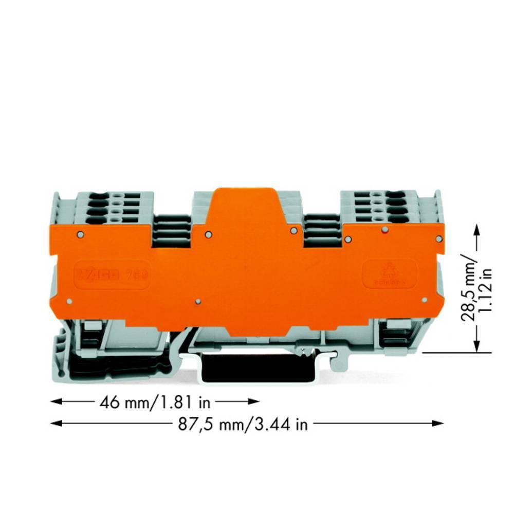 Basisklemmeblok 5 mm Trækfjeder Belægning: L Grå WAGO 769-194/769-319 5 stk