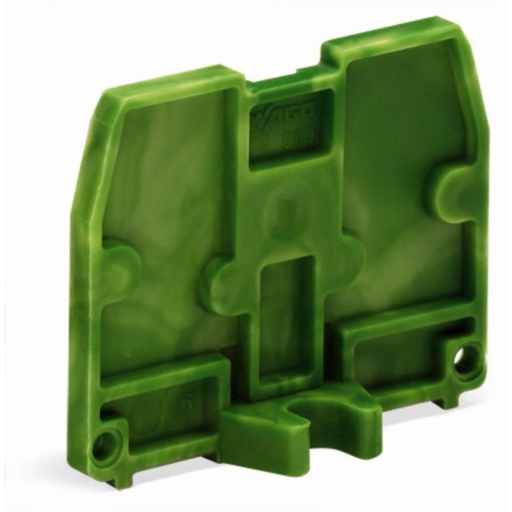 Afslutningsplade WAGO Grøn-gul 100 stk