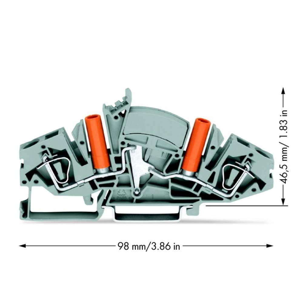 Gennemgangsklemme 8 mm Trækfjeder Belægning: L Grå WAGO 282-841 20 stk