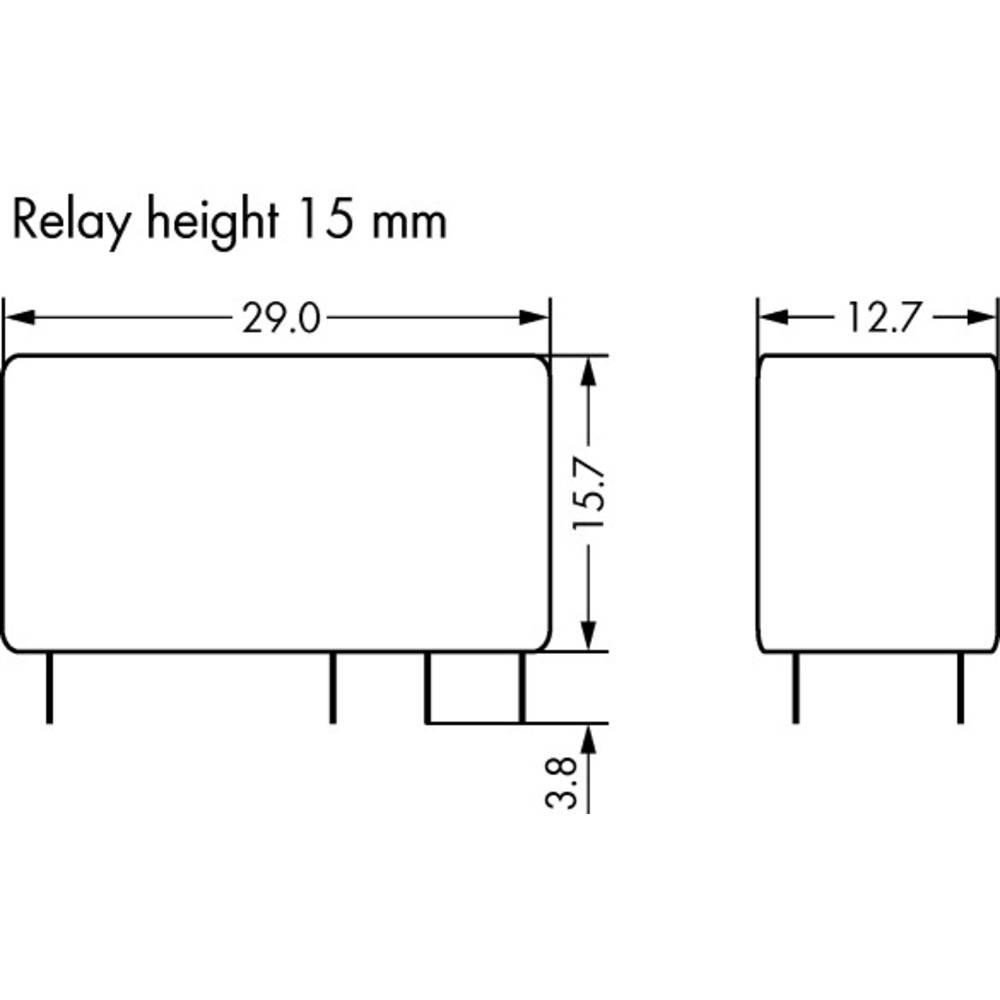 Rele za tiskana vezja 110 V/DC 8 A 2 x preklopni WAGO 788-168 20 kosov