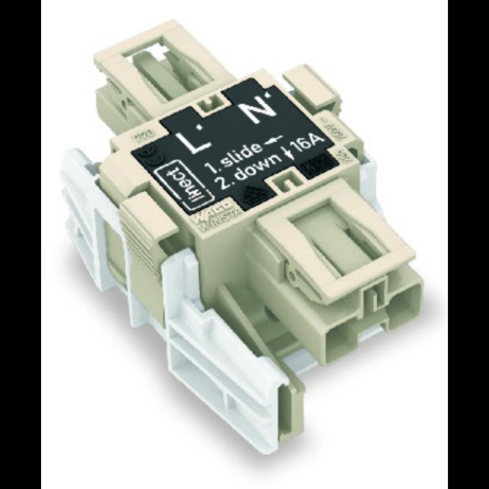 Strømforsyningsadapter WAGO Samlet poltal 2 Mørkegrå 25 stk