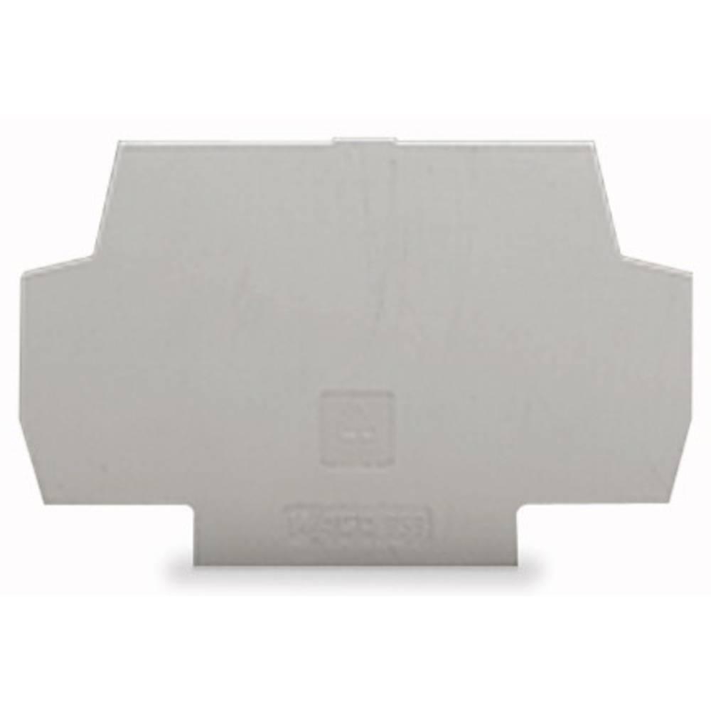 Zaključna plošča sive barve, 100 kosov WAGO 859-525