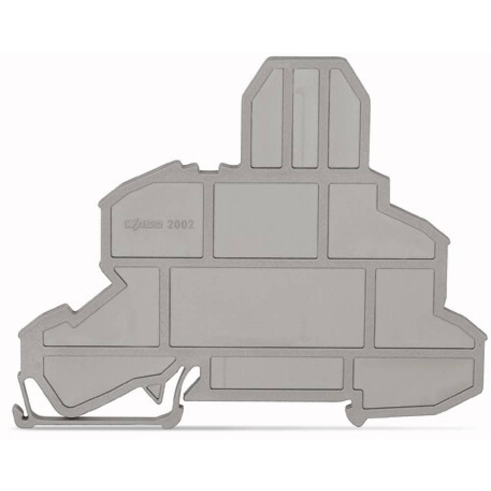 Endeplade til sikringsholderen rækkeklemmer WAGO 100 stk