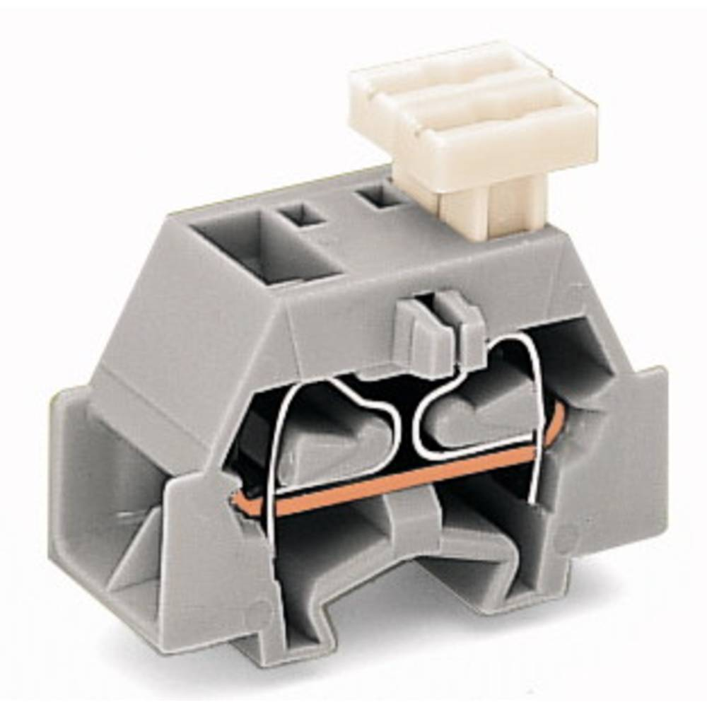 Enkelt klemme 10 mm Trækfjeder Belægning: L Grå WAGO 261-341/332-000 200 stk