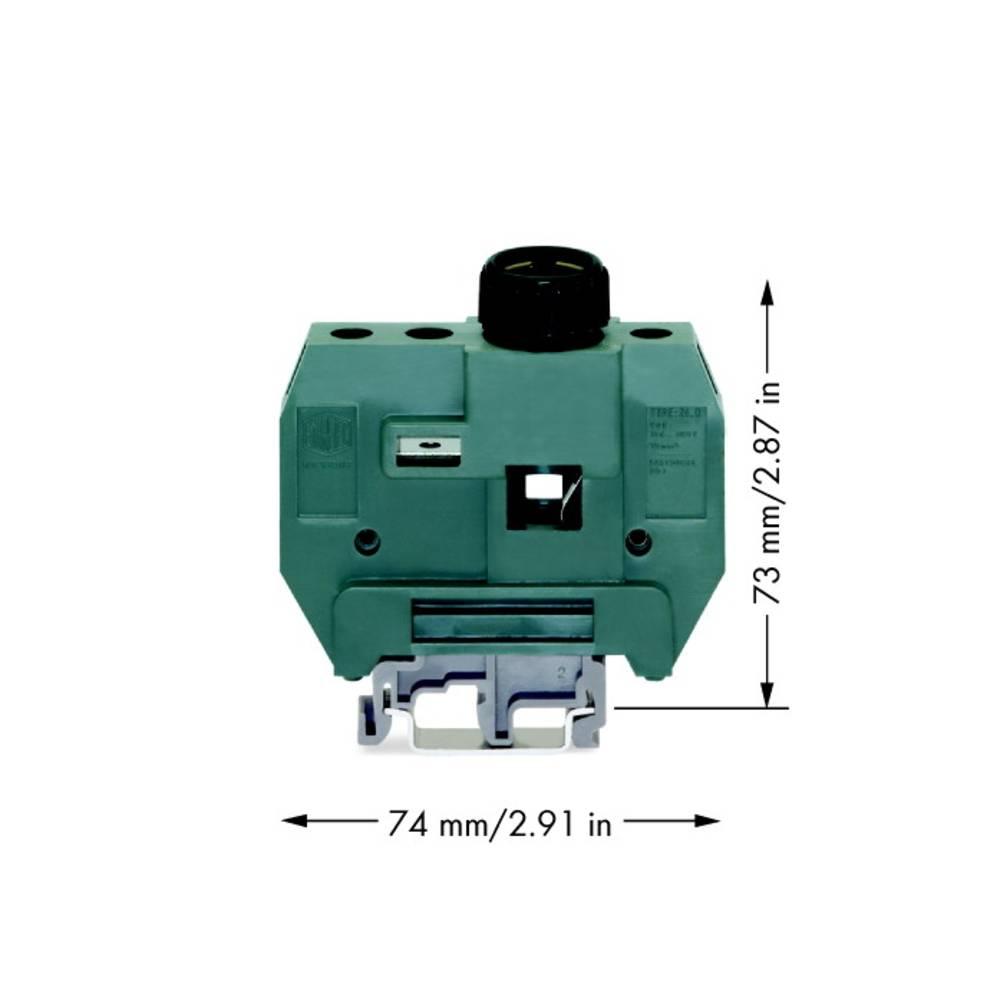 Sikringsklemme 24 mm Skruer Grå WAGO 400-416/416-298 10 stk