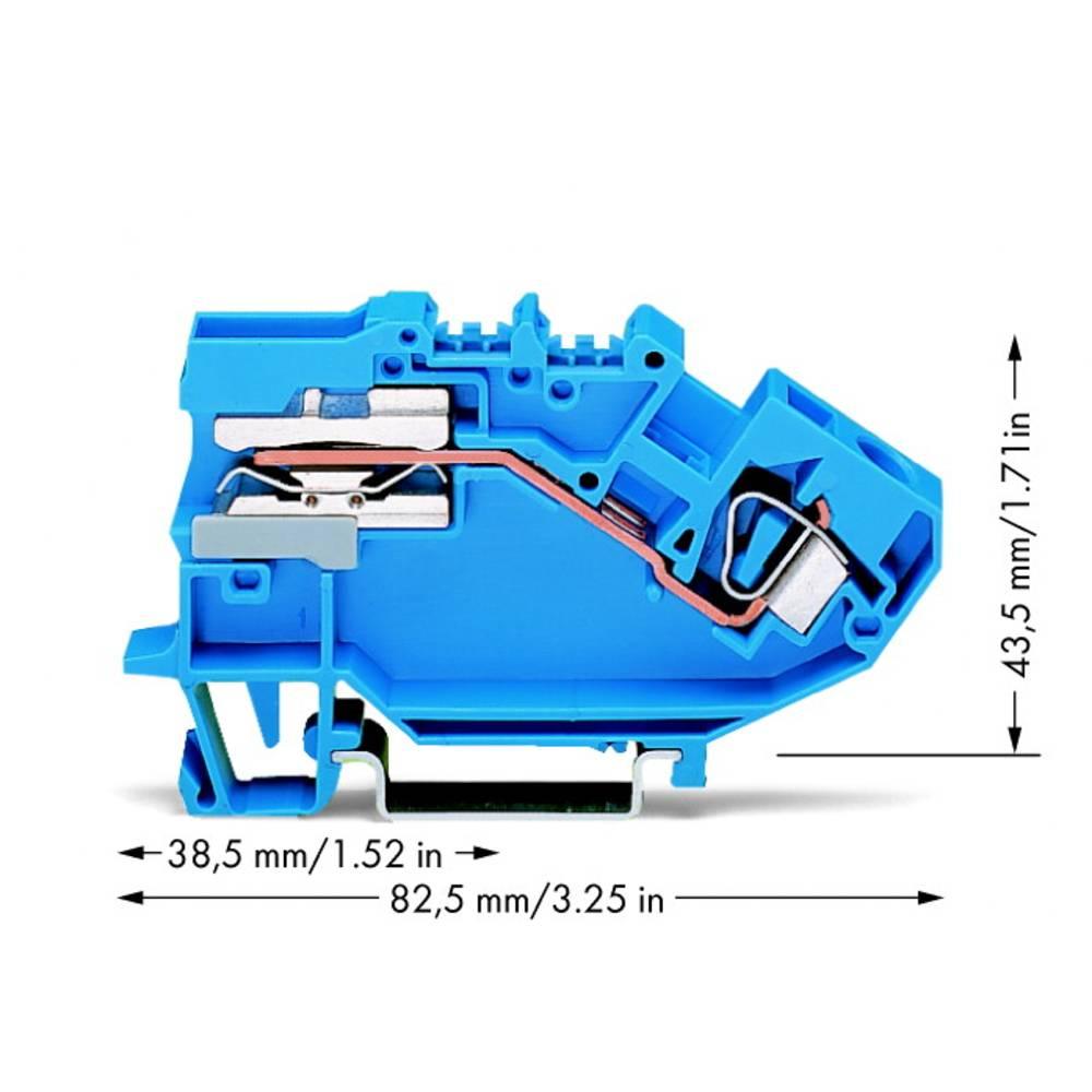 Skilleklemme 8 mm Trækfjeder Belægning: N Blå WAGO 782-613 25 stk