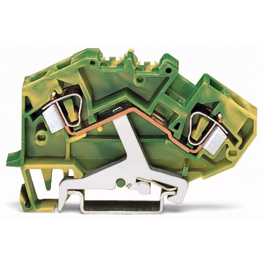 Jordklemme 8 mm Trækfjeder Belægning: Terre Grøn-gul WAGO 782-607/999-950 25 stk
